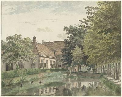 Season Painting - View Of The Outside Watergoor In Nijkerk, Wybrand Hendricks, 1782 by Wybrand Hendricks