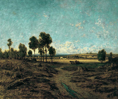 Landscape Painting - View Of The Plain Of Montmartre by Theodore Rousseau