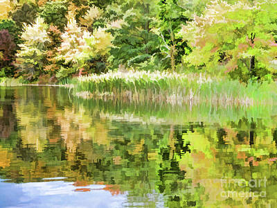 Forest Painting - View Of The Pond At The Olana State Historic Site 8 by Lanjee Chee