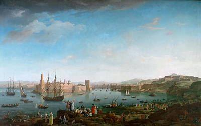 Claude Painting - View Of The Port Of Marseilles by Celestial Images