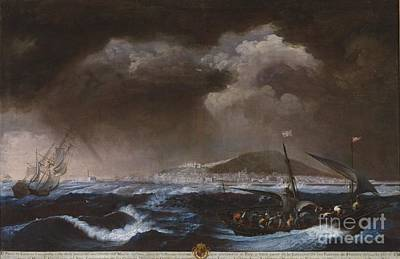 Sete Painting - View Of The Port Of Sete by Celestial Images