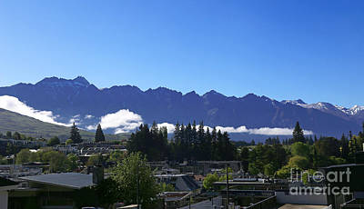 Photograph - View Of The Remarkables Range And Queenstown by Nareeta Martin