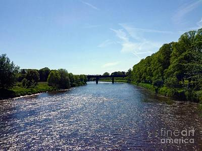 Photograph - View Of The River Ribble by Joan-Violet Stretch