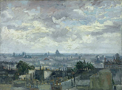 View Of The Roofs Of Paris, 1886 Art Print