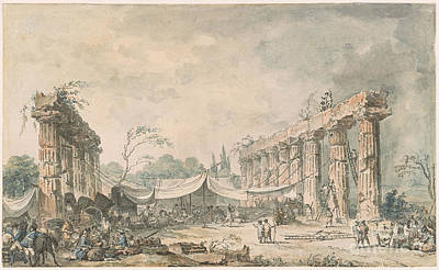 1743 Painting - View Of The Ruins Of The Temple  by MotionAge Designs