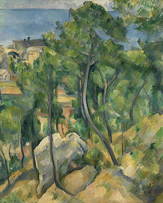 Painting - View Of The Sea At L'estaque by Paul Cezanne