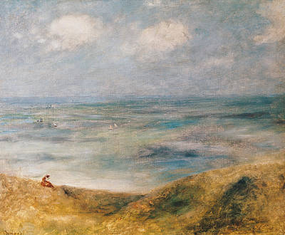 Sea View Painting - View Of The Sea Guernsey by Pierre Auguste Renoir