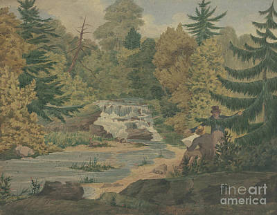 View Of The Second Falls On The Sawkill Near Mr Montgomery's Art Print