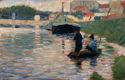 Painting - View Of The Seine by Georges-Pierre Seurat