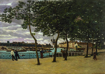 Streetscape Painting - View Of The Seine, Paris by Armand Guillaumin