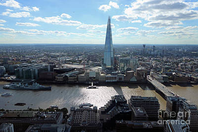 Photograph - View Of The Shard London by Julia Gavin