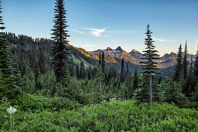 Photograph - View Of The Tatoosh Range by Belinda Greb