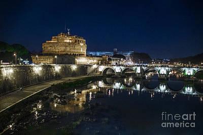 Photograph - View Of The Tiber, Castle Angel, Angel And Bridge. by Svetlana Batalina