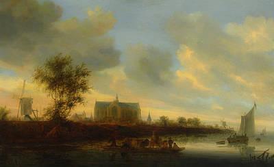 Painting - View Of The Town Of Alkmaar                                     by Salomon Van Ruysdael