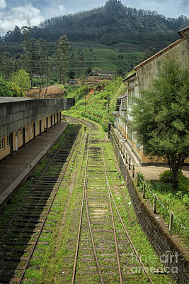 Photograph - View Of The Tracks At A Railway Station In Sri Lanka by Patricia Hofmeester