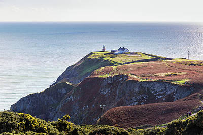 Art Print featuring the photograph View Of The Trails On Howth Cliffs And Howth Head In Ireland by Semmick Photo