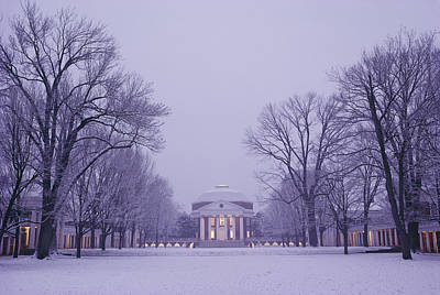 Neoclassical Photograph - View Of The University Of Virginias by Kenneth Garrett