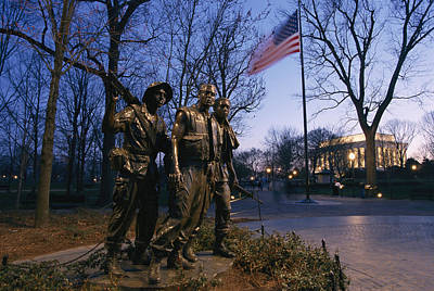 War Monuments And Shrines Photograph - View Of The Vietnam Memorial by Richard Nowitz