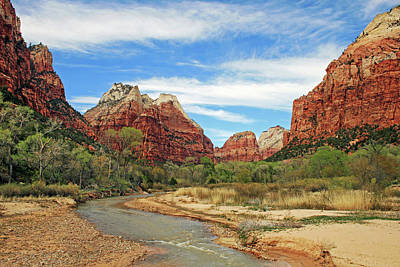 Photograph - View Of The Virgin River 2 by Ellen Henneke
