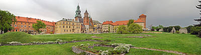 Polish Culture Photograph - View Of The Wawel Castle With The Wawel by Panoramic Images