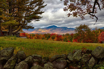 New England Landscape Photograph - View Of The White Mountains by Jeff Folger
