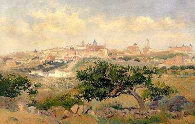 View Of Toledo Print by Mountain Dreams