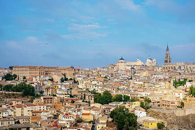 Photograph - View Of Toledo City, With The Alcazar And Cathedral Of Toledo, C by Patrick Duarte Silveira