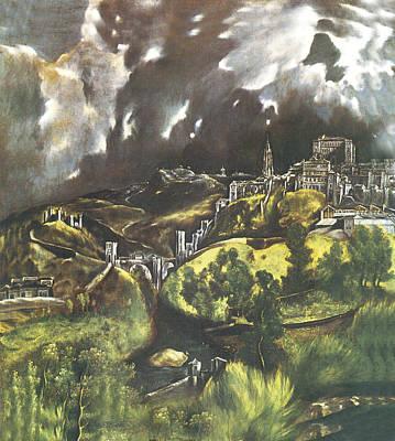 Ohio Painting - View Of Toledo Ohio by El Greco