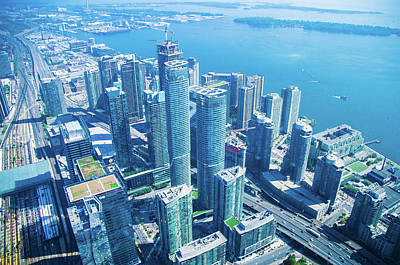 Photograph - View Of Toronto Waterfront From Cn Tower by Jeff at JSJ Photography