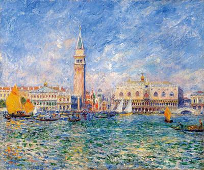 Renoir Painting - View Of Venice, Doges Palace by Pierre-Auguste Renoir