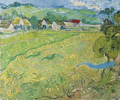 View Of Vessenots Near Auvers Print by Vincent van Gogh