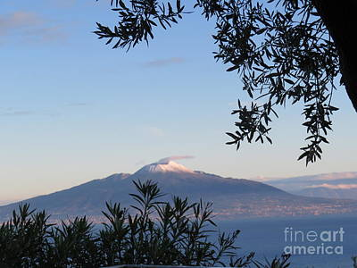 Photograph - View Of Vesuvius by Laurie Morgan