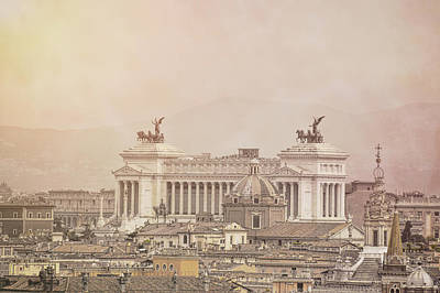 View Of Vittoriano In Rome Art Print by JAMART Photography