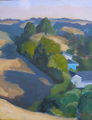 Painting - View Of Walnut Creek Hills From Trailhead by Suzanne Giuriati-Cerny