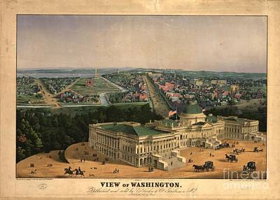 Sea Painting - View Of Washington  by MotionAge Designs