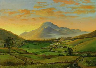 Rutland Painting - View Of West Rutland by James Hope