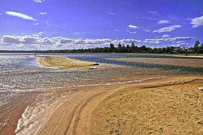 Jervis Photograph - View Of Wollumboola Lake From Sand Dunes by Miroslava Jurcik