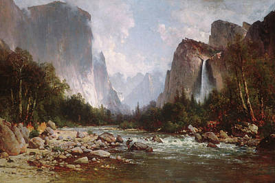 Yosemite Painting - View Of Yosemite Valley                                   by Thomas Hill