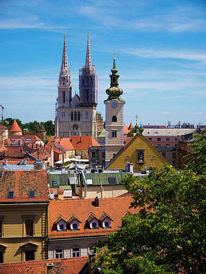 View Of Zagreb Art Print by Rae Tucker