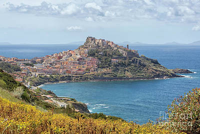 View On Castelsardo Art Print by Patricia Hofmeester