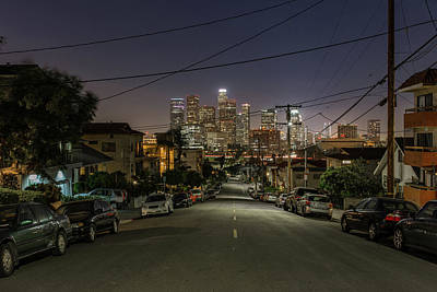 View On Dtla Art Print by Urbanexpl0rer