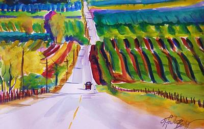 View On Lewis Hill Back Of Moms Ranch Art Print by Therese Fowler-Bailey
