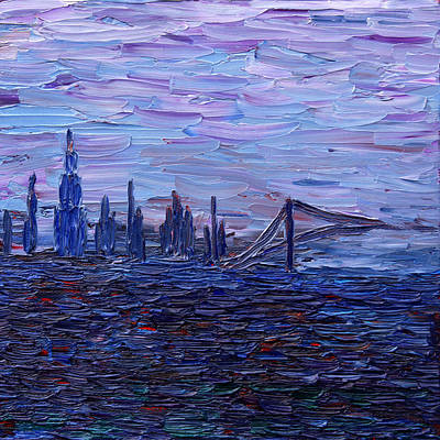 Painting - View On New York by Vadim Levin