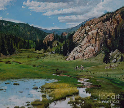 Painting - View On Old Stage Road  by Michael Nowak
