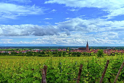 Photograph - View On Saint-hyppolyte And Vineyard, Alsace, France by Elenarts - Elena Duvernay photo
