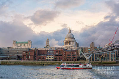 Photograph - View On Thames And City Of London by Patricia Hofmeester