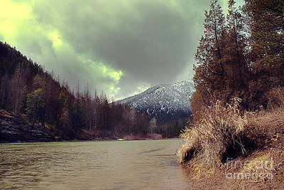 Blackfoot River Photograph - View On The Blackfoot River by Janie Johnson