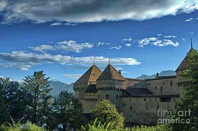 Photograph - view on the Chillon Castle by Michelle Meenawong