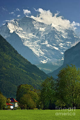 View On The Jungfrau - Interlaken - Switzerland Art Print by Henk Meijer Photography