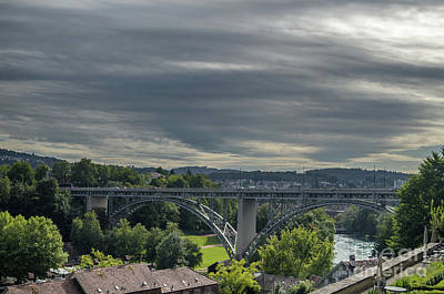 Photograph - view on the Kirchenfeld Bridge by Michelle Meenawong